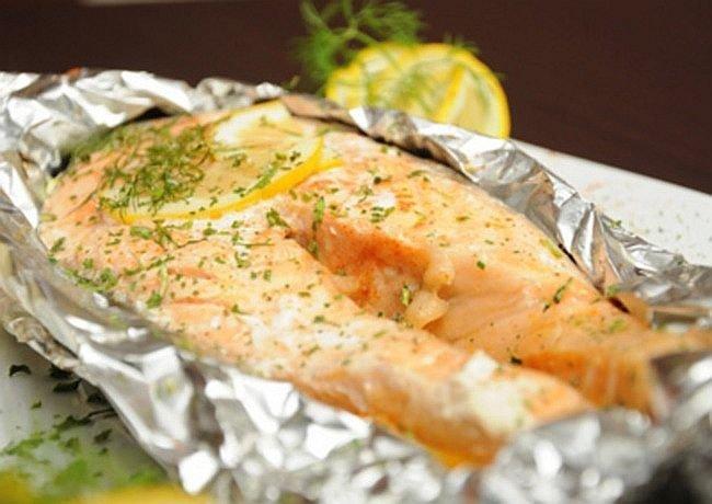 Рыбный стейк в духовке рецепты в фольге