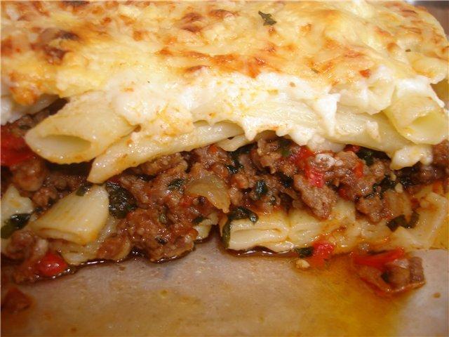 Запеканка макароны с фаршем в духовке рецепт с фото пошагово