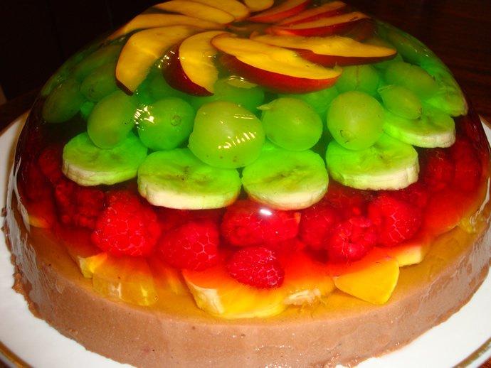 Торт с фруктами и желе с фруктами рецепт
