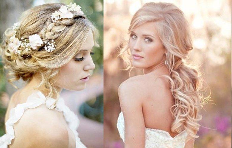 свадебные прически каталог распущенные волосы