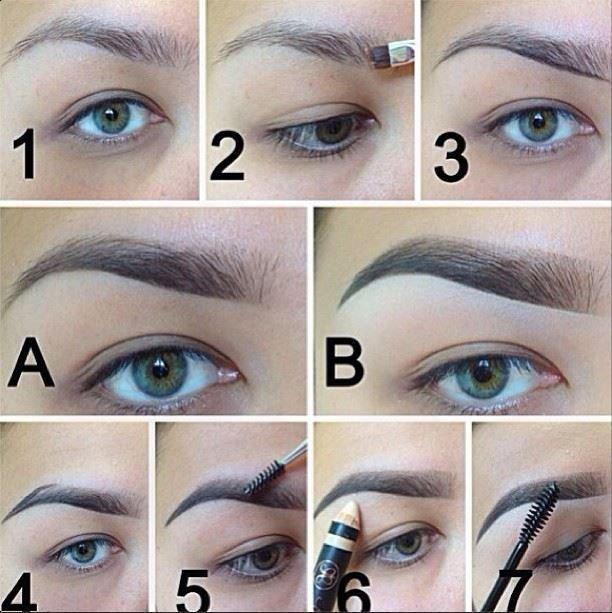 Как нарисовать брови пошаговая фото