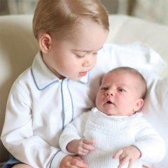 Дети Кейт Миддлтон и принца Уильяма - мальчик Джордж и девочка Шарлотта